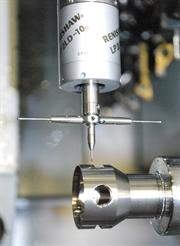 LP2 touch probe on Citizen lathe at Renishaw's Stonehouse machine shop