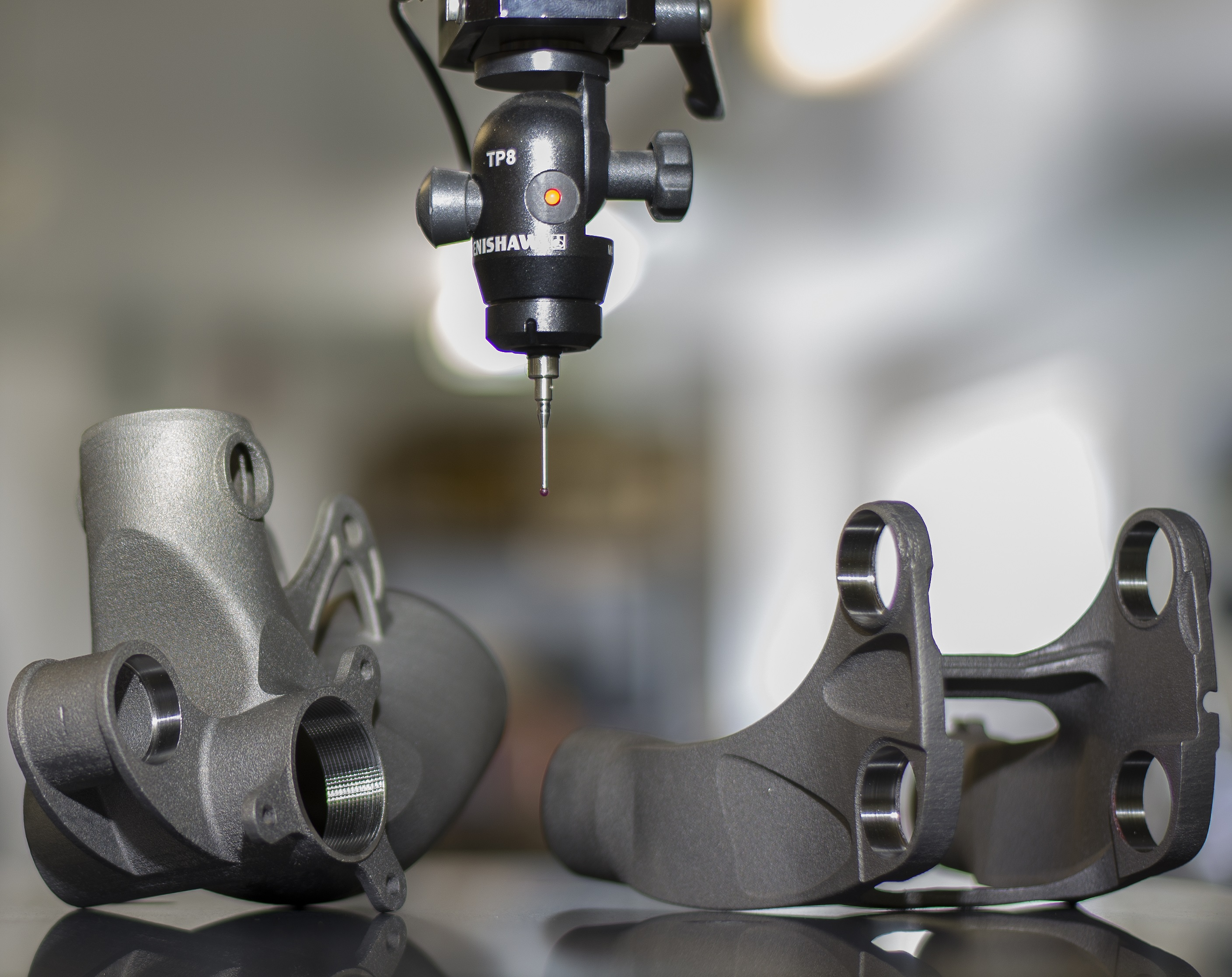 Robot Bike Co. - The final stage in the production of the titanium parts is inspection using Renishaw probes