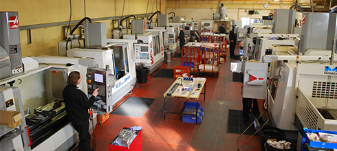 Mekall –  HAAS machines in shop