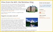 Renishaw's 'View from the mill' blog