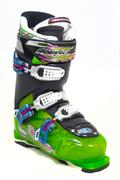 Vacuum cast ski boot 3 quarter view