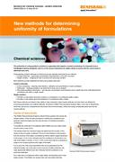 Application note:  New methods for determining content uniformity of formulations